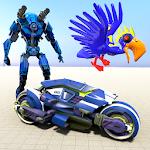 Download Flying Police Parrot Bike Robot Super Robot Hero APK